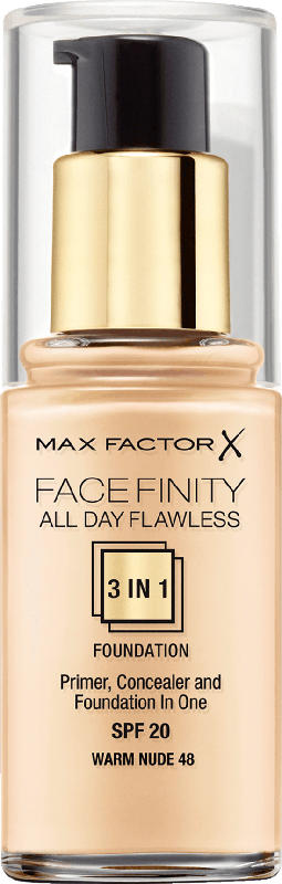 Max Factor Make-up ALL DAY FLAWLESS 3 in 1 FOUNDATION  Warm Nude 48