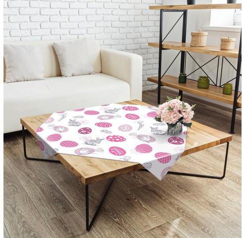 Mitteldecke Ostern rosa 80 x 80 cm
