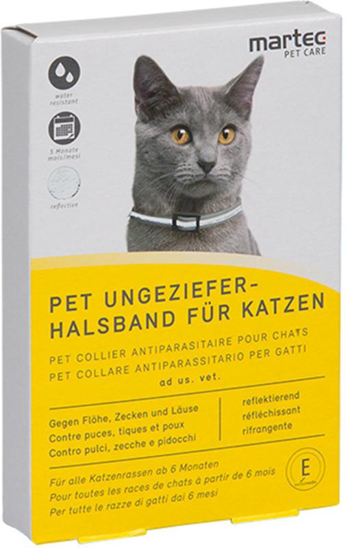 Martec Pet Care PET Ungezieferhalsband für Katzen reflektierend