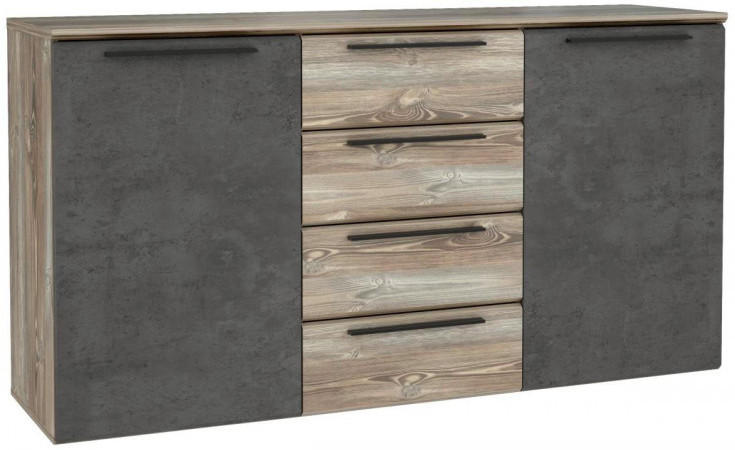 Sideboard Mindi Picea Kiefer Nachbildung/ Beton Optik ca. 150 x 81 x 41 cm