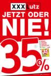 XXXLutz JETZT ODER NIE! - 35% sparen - bis 05.05.2019