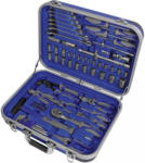 Möbelix Werkzeugkoffer 03156 1/2' und 1/4', 82-teilig Blau
