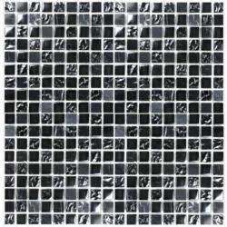 Mosaikmatte Schwarz glänzend