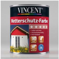 Vincent Wetterschutz-Farbe silbergrau seidenmatt, 0,75 L