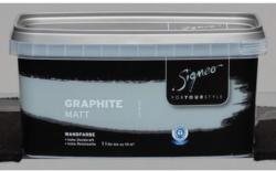 Signeo Bunte Wandfarbe Graphite matt, 1 L
