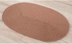 "Platzset ""Bast"" oval 30 x 45 cm taupe"
