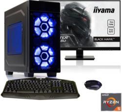 "HYRICAN Gaming PC Ryzen 5 2600X, GTX 1050Ti, 16GB RAM + 68, 6cm (27"") TFT »Striker SET1721«"