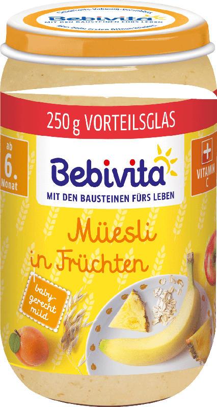 Bebivita Frucht & Getreide Müsli in Früchten ab 6. Monat