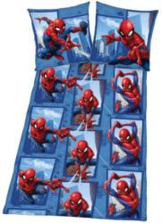 Microfaser Bettwäsche Spiderman blau-rot