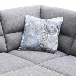 Kissen - blau-weiß - 50x50 cm
