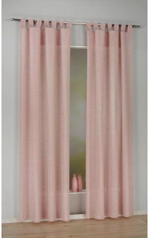 Kombivorhang Cordelia, rosa, ca. 140 x 245 cm