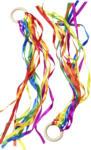 dm-drogerie markt Entwicklungsfördernde Produkte Tanzringe, aus Holz und Polyester, Regenbogenfarben, für Mädchen und Jungen