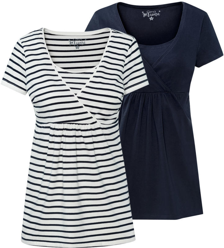2 Damen Umstands-T-Shirts im Set (Nur online)