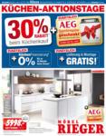 Möbel Rieger Küchen-Aktionstage - bis 18.05.2019