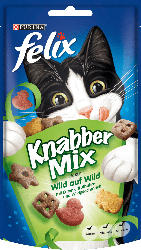 Felix Snack für Katzen, KnabberMix Wild auf Wild