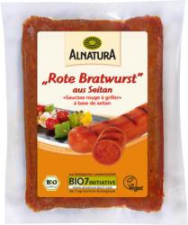 Vegane rote Bratwurst aus Seitan (gekühlt)
