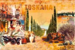 Gerahmtes Bild Toskana Collage