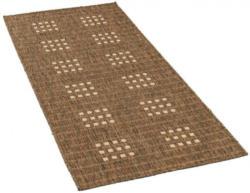 Webteppich in Sisaloptik ca. 80 x 200 cm braun-grau