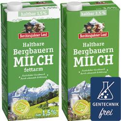 Berchtesgadener Land Bergbauern H-Milch 3,5/1,5 % Fett jede 1-Liter-Packung