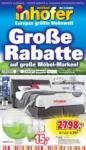 Möbel Inhofer Große Rabatte auf große Möbel-Marken! - bis 01.06.2019