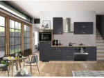 Möbelix Einbauküche Küchenblock Möbelix Shadow G-280-2321-000 Grau, Eichefarben