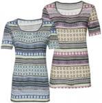 NKD Damen-T-Shirt mit raffiniertem Muster