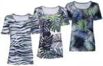 NKD Damen-T-Shirt mit Blatt-Muster
