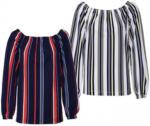NKD Damen-Shirt mit elastischem Carmen-Ausschnitt