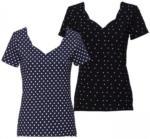 NKD Damen-T-Shirt mit Herz-Ausschnitt
