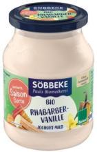 Saisonjoghurt Rhabarber Vanille