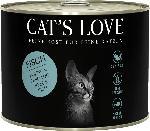 dm-drogerie markt CAT'S LOVE Nassfutter für Katzen, Adult, Fisch Pur mit Distelöl & Petersilie