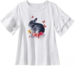 Mädchen T-Shirt mit Hasen-Frontaufdruck