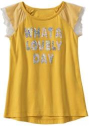 Mädchen T-Shirt in fröhlichem Gelb