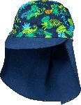 dm-drogerie markt PUSBLU Mütze mit Nackenschutz, Gr. 50/51, in Bio-Baumwolle und Elasthan, blau, grün, für Jungen