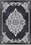 HELLWEG Baumarkt Kurzflorteppich Turkey - Amasya Schwarz, 160x230cm