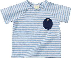 ALANA Baby-Shirt, Gr. 80, in Bio-Baumwolle und Elasthan, blau, weiß, für Mädchen und Jungen