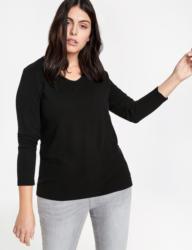 Samoon T-Shirt Langarm Rundhals »Langarmshirt mit Ripp-Struktur«