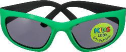 SUNDANCE Sonnenbrille für Kinder Front grün, Bügel schwarz