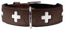 Hunter Dog Halsband Swiss nickel braun 65