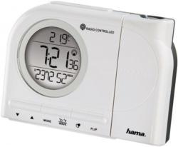 Hama Projektionswecker Funkwecker Wecker, Uhrzeit, Temperatur, »Kalender, 2Weckzeiten, digital«