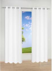 Ösen-Dekoschal-Voile, weiß, ca. 135 x 235 cm