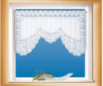 POCO Scheibengardine M-Bogen, weiß, ca. 70 x 150cm