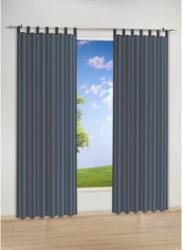 Kombi-Dekoschal Nouveau Stripe, anthrazit, ca.140 x 245 cm