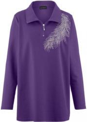 m. collection Sweatshirt mit hochschließbarem Troyerkragen