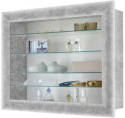 Hängevitrine Beton-Optik ca. 62,5 x 50 x 17,5 cm