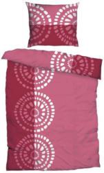 Baumwoll Bettwäsche Kreise pink rosa 135 x 200 cm