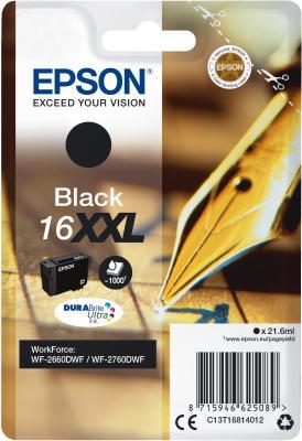 Epson T1681 BK 16XXL schwarz - Tintenpatrone