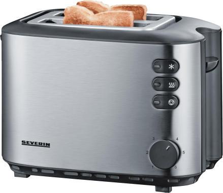 Severin AT 2514 edelstahl - 2-Scheiben-Toaster