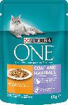 dm-drogerie markt PURINA ONE Nassfutter für Katzen, Coat & Hairball, mit Huhn und grünen Bohnen
