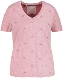 Samoon T-Shirt Kurzarm Rundhals »T-Shirt mit Stickerei GOTS«